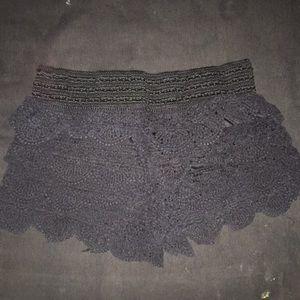 Black Lacey shorts